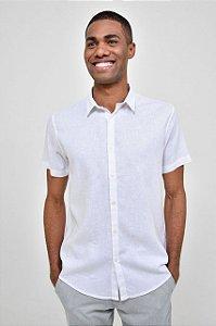 Camisa Linho Manga Curta Color