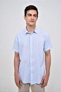 Camisa Linho Manga Curta Blues