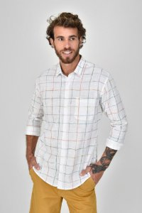 Camisa Xadrez Aquarelas
