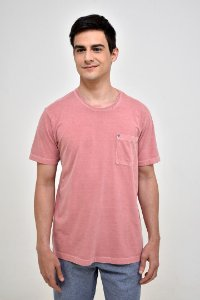 T-shirt Básica Estonada Rosa