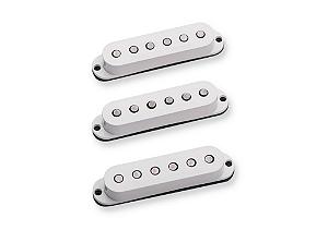 Captadores (3) Guitarra SSL-3 Hot Strat,  Branco, Embalagens Individuais