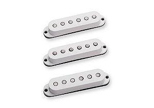 Captadores (3) Guitarra SSL-6 Custom Flat Strat, Branco, Individuais