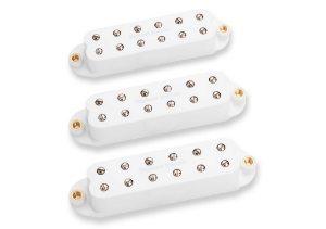 Captadores (Trio) Guitarra Little 59 Strat Set Hum Branco