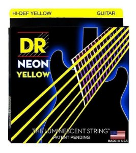 Encordoamento Hi-Definition NEON Yellow, Guitarra 11-50