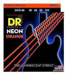 Encordoamento Hi-Definition NEON Orange Baixo 4 Cordas 40-100