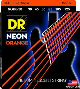 Encordoamento Hi-Definition NEON Orange Baixo 6 Cordas 30-125