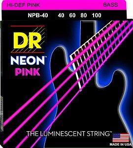 Encordoamento Hi-Definition NEON Pink, Baixo 4 Cordas 40-100