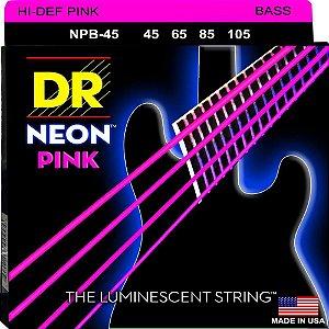 Encordoamento Hi-Definition NEON Pink, Baixo 4 Cordas 45-105