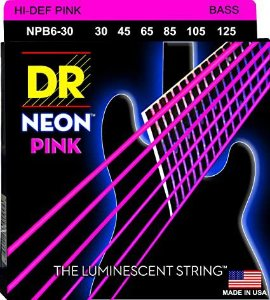 Encordoamento Hi-Definition NEON Pink, Baixo 6 Cordas 30-125