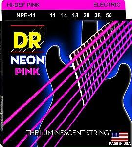 Encordoamento Hi-Definition NEON Pink, Guitarra 11-50