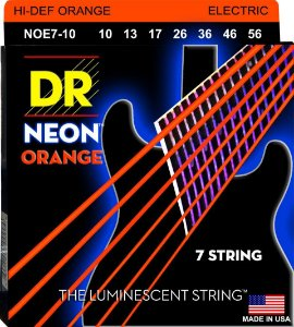 Encordoamento Hi-Definition NEON Orange, Guitarra 7 Cordas 10-56