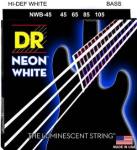 Encordoamento Hi-Definition NEON White, Baixo 4 Cordas 45-105