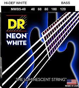 Encordoamento Hi-Definition NEON White, Baixo 5 Cordas 40-120