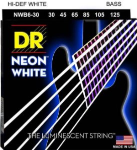 Encordoamento Hi-Definition NEON White, Baixo 6 Cordas 30-125