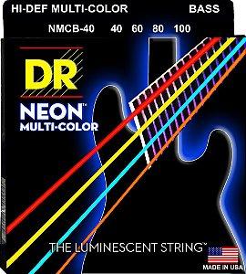 Encordoamento Hi-Definition NEON Multi-Color, Baixo 4 Cordas 40-100