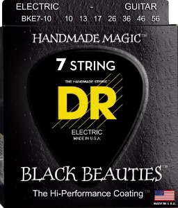 Encordoamento Black Beauties, Guitarra 7 Cordas 10-56