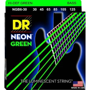 Encordoamento Hi-Definition NEON Green, Baixo 6 Cordas 30-125