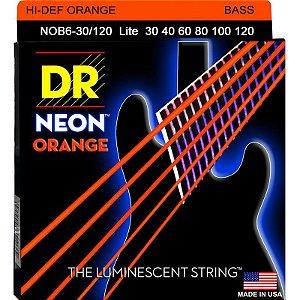 Encordoamento Hi-Definition NEON Orange Baixo 6 Cordas 30-120