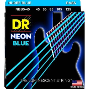 Encordoamento Hi-Definition NEON Blue, Baixo 5 Cordas 45-125