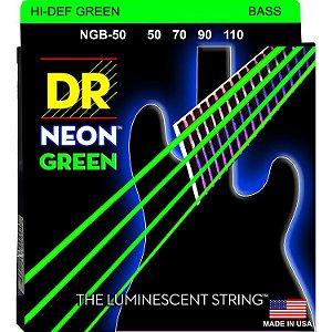 Encordoamento Hi-Definition NEON Green, Baixo 4 Cordas 50-110