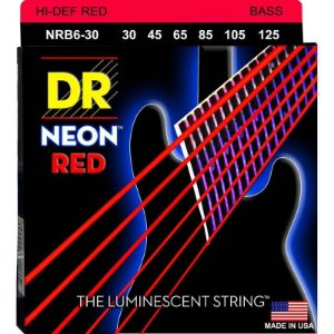 Encordoamento Hi-Definition NEON Red, Baixo 6 Cordas 30-125