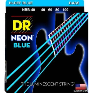 Encordoamento Hi-Definition NEON Blue, Baixo 4 Cordas 40-100