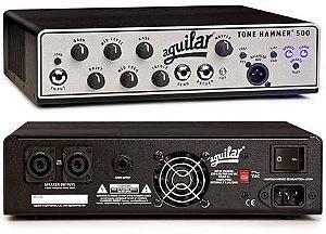 Cabeçote Aguilar Tone Hammer TH-500, Classe D, 500 Watts/4 Ohms
