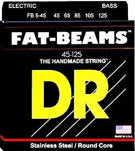 Encordoamento Fat-Beams Baixo 5 Cordas, 45-125, Aço Inox, Núcleo Redondo