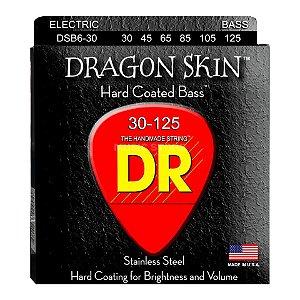 Encordoamento Dragon Skin, Baixo 6 Cordas 30-125, Aço Inox, K3 Coated