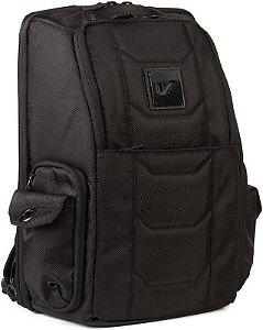 Mochila Backpack Gruv Gear Club Elite Laptop Dj Pedais (Bag Venue Series) Acolchoada, Impermeável Preta
