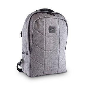 Mochila Backpack Acolchoada, Impermeável Para Equipamentos e Laptop, Cinza