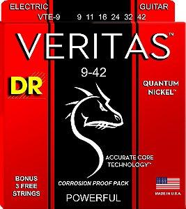 Encordoamento Veritas Guitarra, 9-42, Quantum-Níquel, Primas Xenon, Núcleo Redondo, ACT
