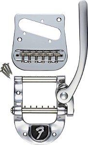 Ponte Tremolo Bigsby B5 Original Para Telecaster Com Logo Fender