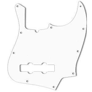 Escudo WD Custom Personalizado Baixo Fender Jazz Bass American Standard, Branco 3 Camadas