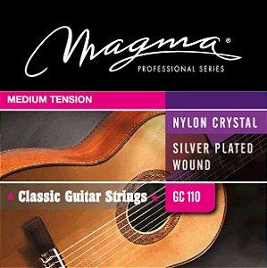 Encordoamento Magma GC110 Para Violão Clássico, Tensão Média, Nylon e Prata