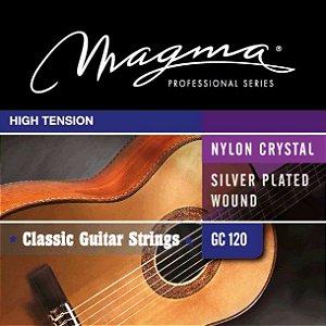 Encordoamento Magma GC120 Para Violão Clássico, Tensão Alta, Nylon e Prata
