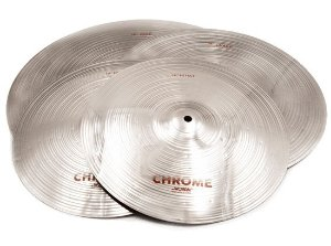 Kit de Pratos Wuhan Chrome Pack Hi-Hat 14, Crash 16, Ride 20
