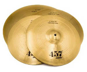 Kit de Pratos Wuhan Pack Hi-Hat 14, Crash 16, Ride 20