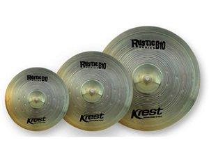 "Kit Pratos Krest Rustic, Ride 20"", Medium Crash 16"", Hi-hat 15"", com Bag"