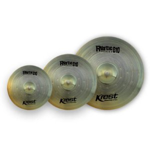 "Kit Pratos Krest Rustic, Ride 20"", Medium Crash 16"", hi-hat 14"", com Bag"