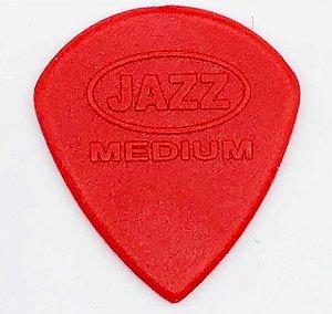 Kit 100 Palhetas  Jazz Medium Guitarra Violão - Vermelha