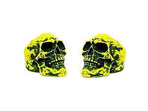 Borboleta Gorilla para Prato Caveira Neon Amarelo (2 Un)