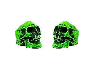 Borboleta Gorilla para Prato formato Caveira Neon Verde (2 Un)