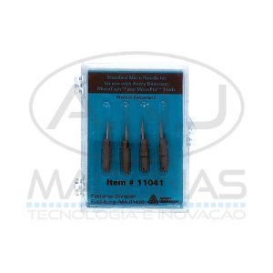 D5OO0203 - 11041 - KIT C/ 4 AGULHAS MICROTACH/MICROPIN - AVERY DENNISON