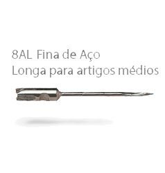 2372 - 8AL - KIT C/ 5 AGULHAS 100% AÇO -  FINE SUPER LONGA  - ETIQ PLAST