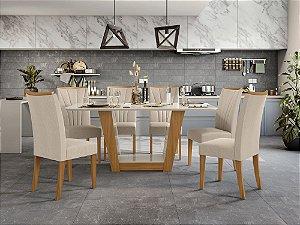 Sala de Jantar Apogeu 170 x 090 com 6 cadeiras Apogeu