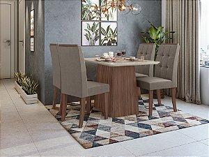 Sala de Jantar Nevada 120 x 080 c/ 4 Cadeiras Celebrare
