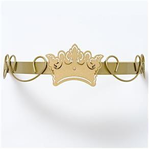 Dossel Dourado Arabesco Com Coroa para mosquiteiro