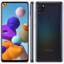 "Smartphone Samsung Galaxy A21s Dual Chip Android 10 Tela 6.5"" Octa-Core 64GB 4G Câmera Quádrupla 48MP+8MP+2MP+2MP - Preto"