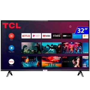 TV 32P TCL LED SMART WIFI HD COMANDO DE VOZ (MH) - 32S6500S